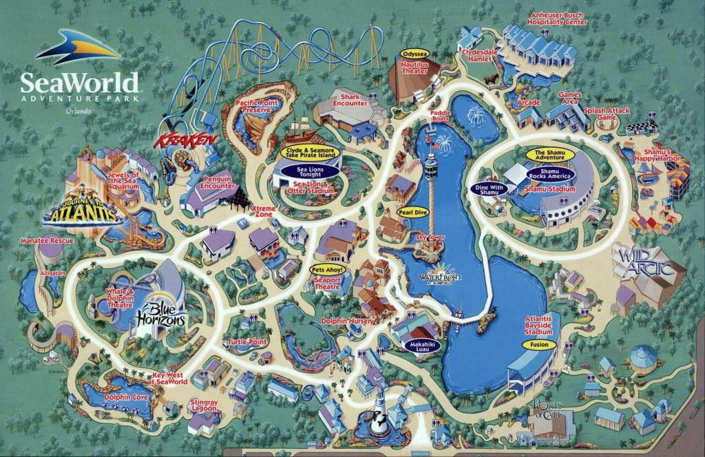 Seaworld Map Orlando - 7007 Sea Harbor Dr Orlando Fl • Mappery - Seaworld Orlando Park Map Printable