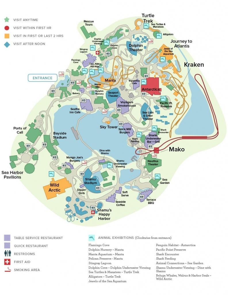 Seaworld® Orlando General Map | Disney Trip ✈ June 2019 - Seaworld Orlando Park Map Printable
