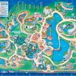 Seaworld Orlando Theme Park Map   Orlando Fl • Mappery | Aquariums   Sea World Florida Map