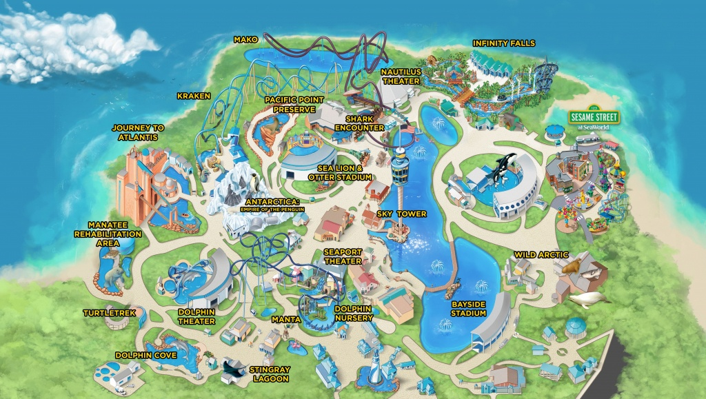 Seaworld Parks & Entertainment | Know Before You Go | Seaworld - Sea World Florida Map