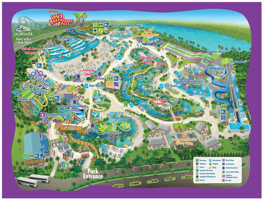 Seaworld Parks Orlando Tickets   Discount 3-Day Multi-Park Passes - Seaworld Orlando Map 2018 Printable