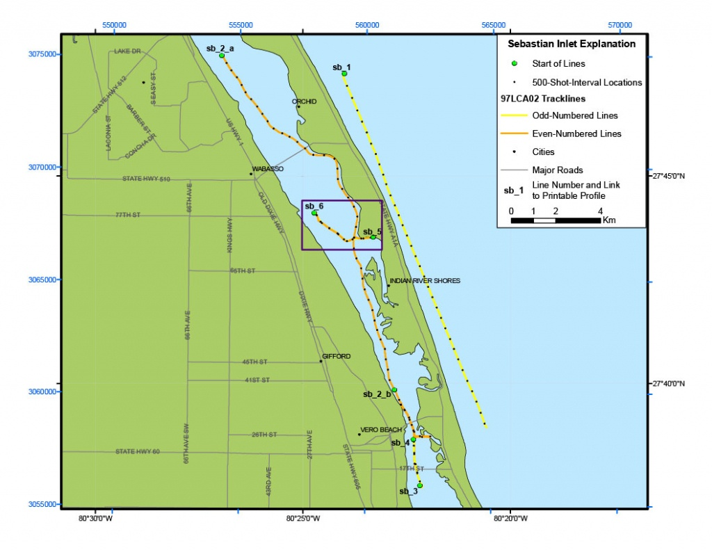 Sebastian Inlet Map - Archive Of Digital Boomer Sub-Bottom Data - Sebastian Florida Map