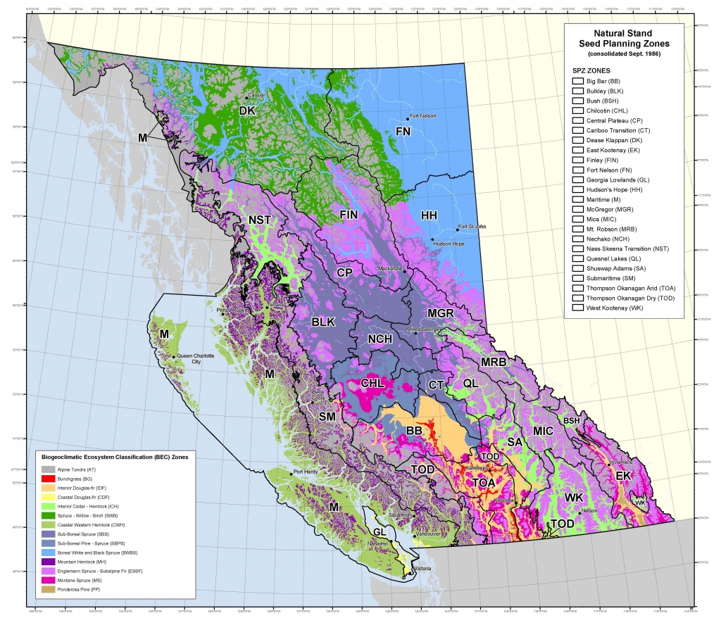Seed Planning Zone Maps & Spatial Data - Province Of British Columbia - B Zone California Map