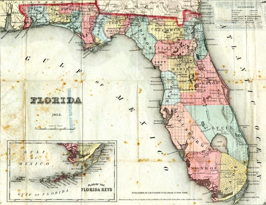 Seminole Wars, Incl. Maps | Evolution Of War Machines | Florida - Seminole Florida Map