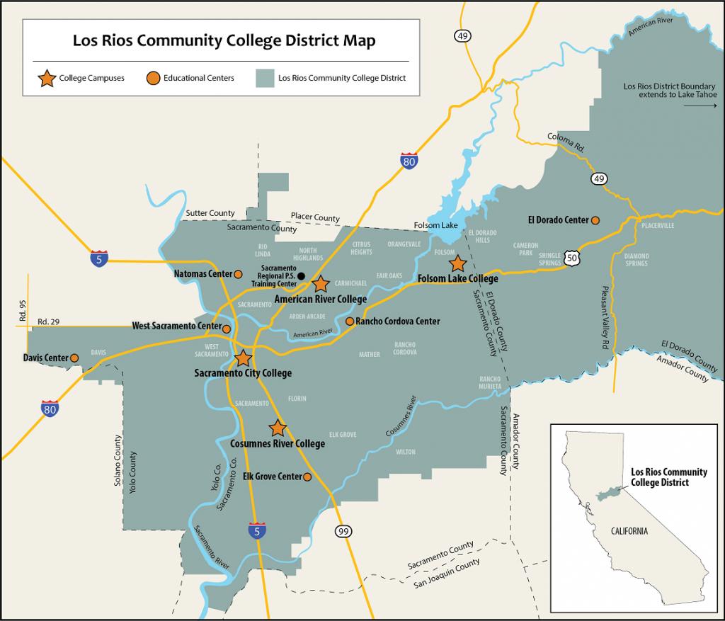 Service Area Maps | Los Rios Community College District - California Community Colleges Map