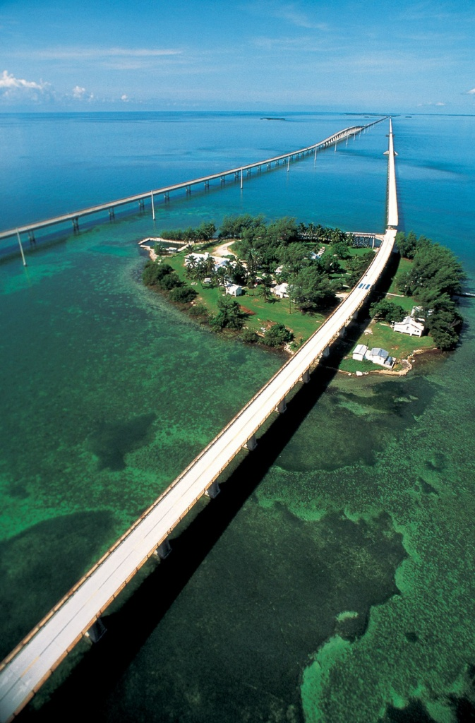 Seven Mile Bridge - Wikipedia - Los Cayos Florida Map