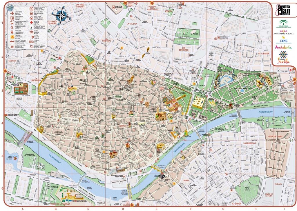 Seville City Center Map - Seville Tourist Map Printable