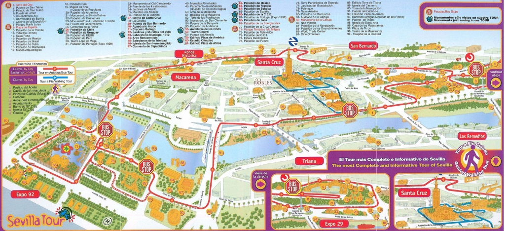 Seville Spain Tourist Map - Tourist Street Map Seville (Andalusia - Seville Tourist Map Printable