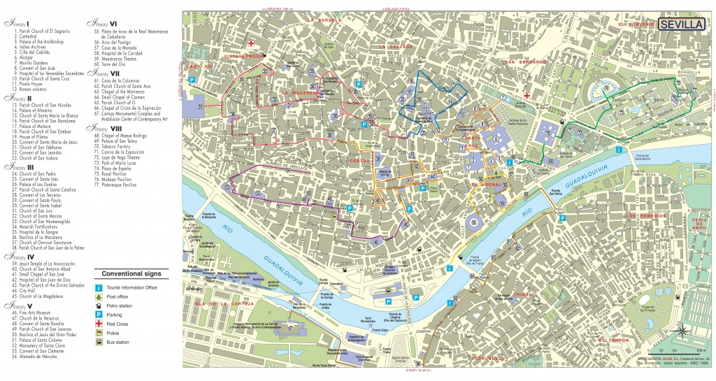 Seville Tourist Attractions Map - Printable Tourist Map Of Seville