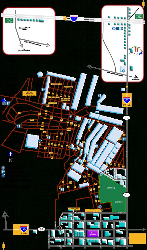 Sfmc | Guide Map - Canton Texas Flea Market Map