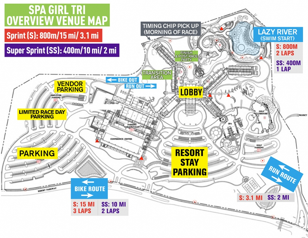 Sgt Venue Map - Spa Girl Tri | Spa Girl Tri - Lost Pines Texas Map