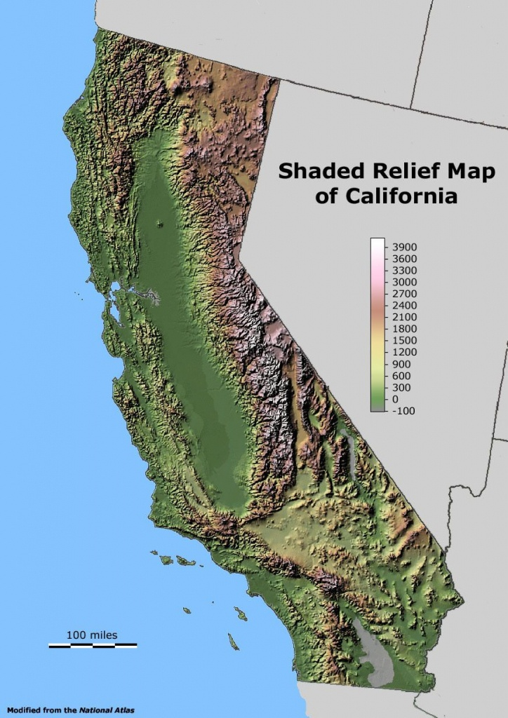 Shaded Relief Map Of California.   Maps I Like   California Map - California Relief Map