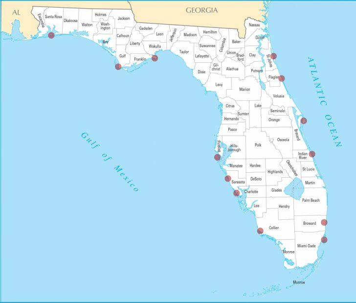 Map Of Florida Panhandle Beach Towns
