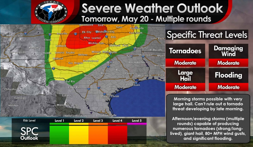 Significant Severe Weather Outbreak Likely Tomorrow In West Texas - West Texas Weather Map