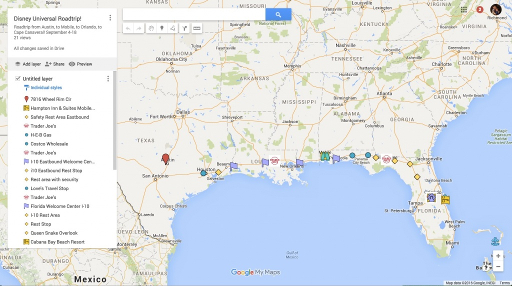 Signs Of Life : The Brownie Chronicles: Using Google Maps To Plan A - Florida Rest Areas Map