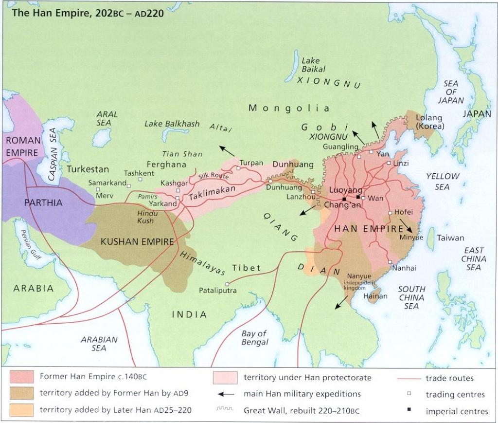 Silk Road Links - Silk Road Map Printable