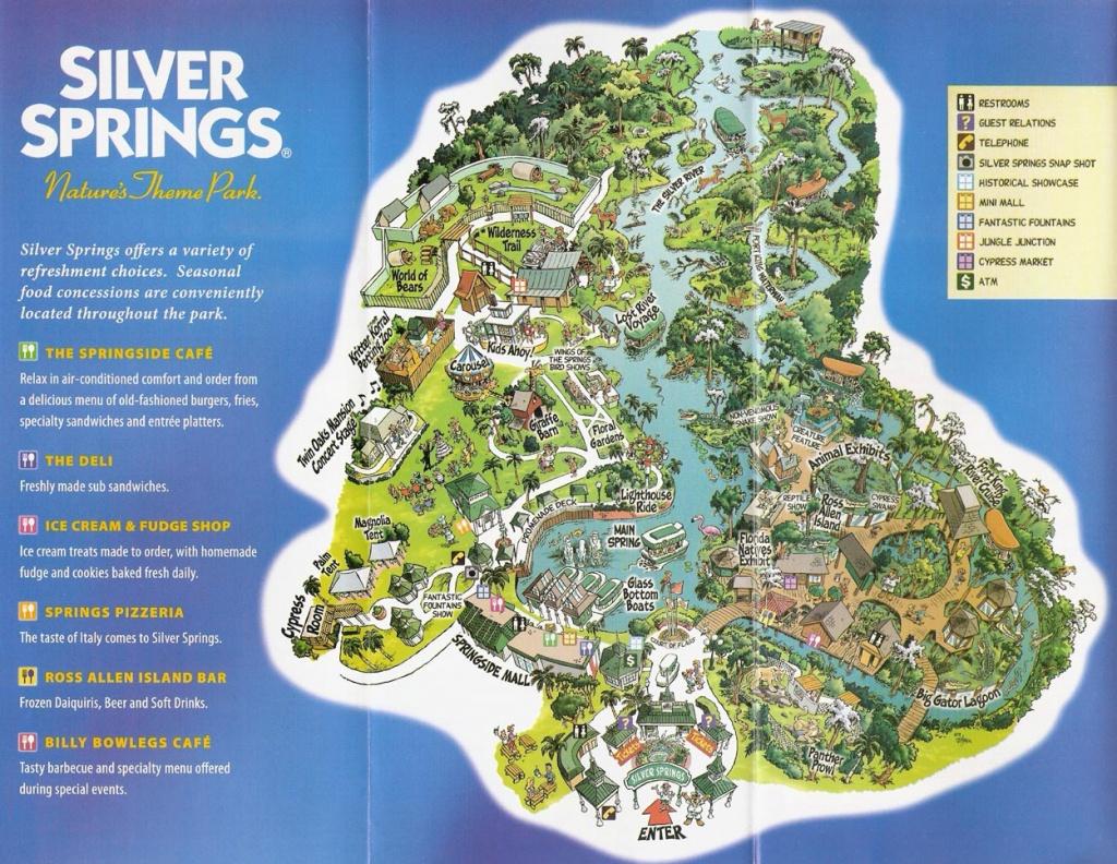 Silver Spring Florida Map | Time Zones Map - Silver Springs Florida Map