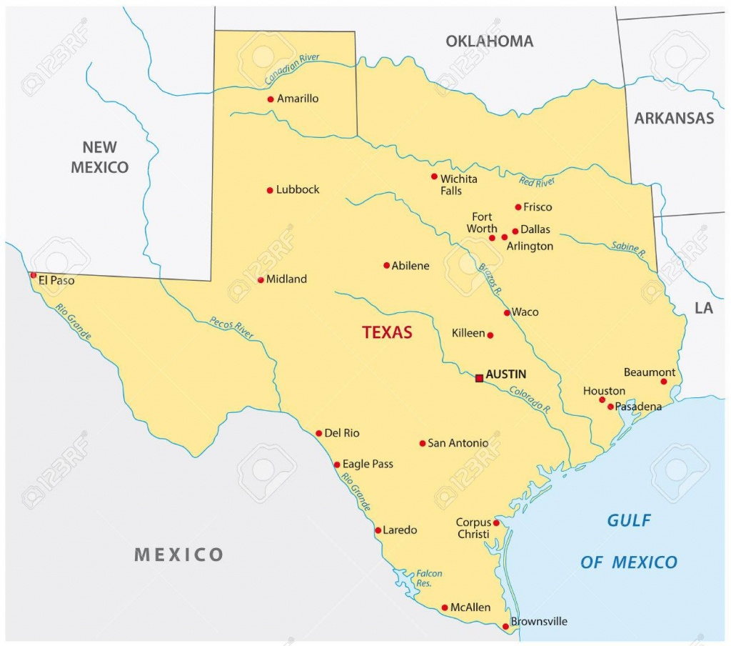 Simple Texas State Map Royalty Free Cliparts, Vectors, And Stock - Free Texas State Map