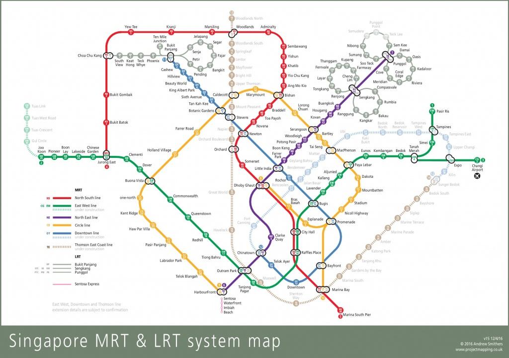 Singapore Mrt Map - Singapore Mrt Map Printable