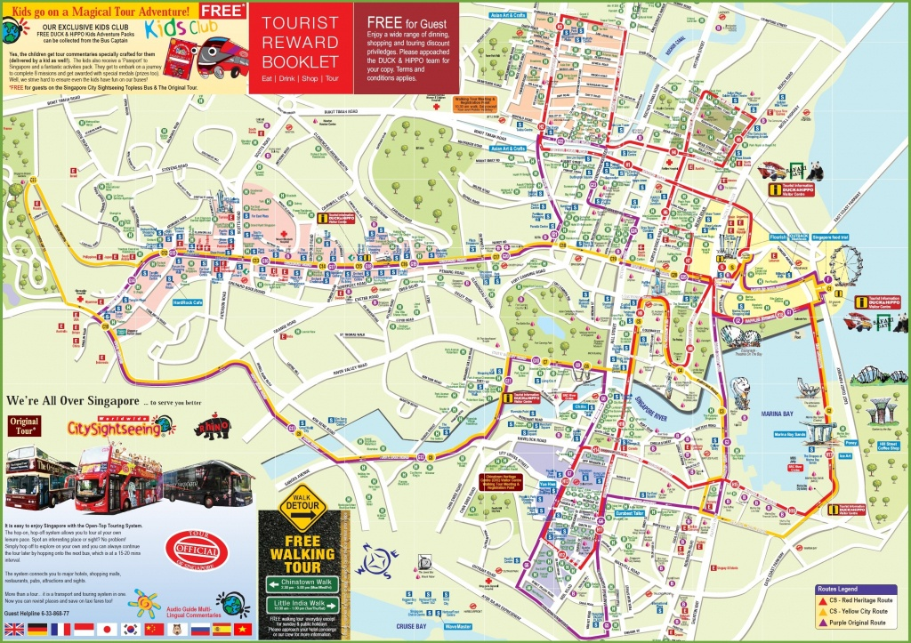 Singapore Tourist Map - Printable Map Of Singapore
