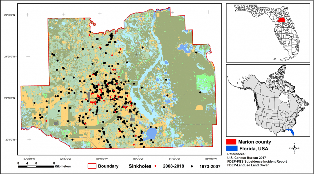 Sinkhole Susceptibility Mapping In Marion County, Florida - Marion County Florida Flood Zone Map