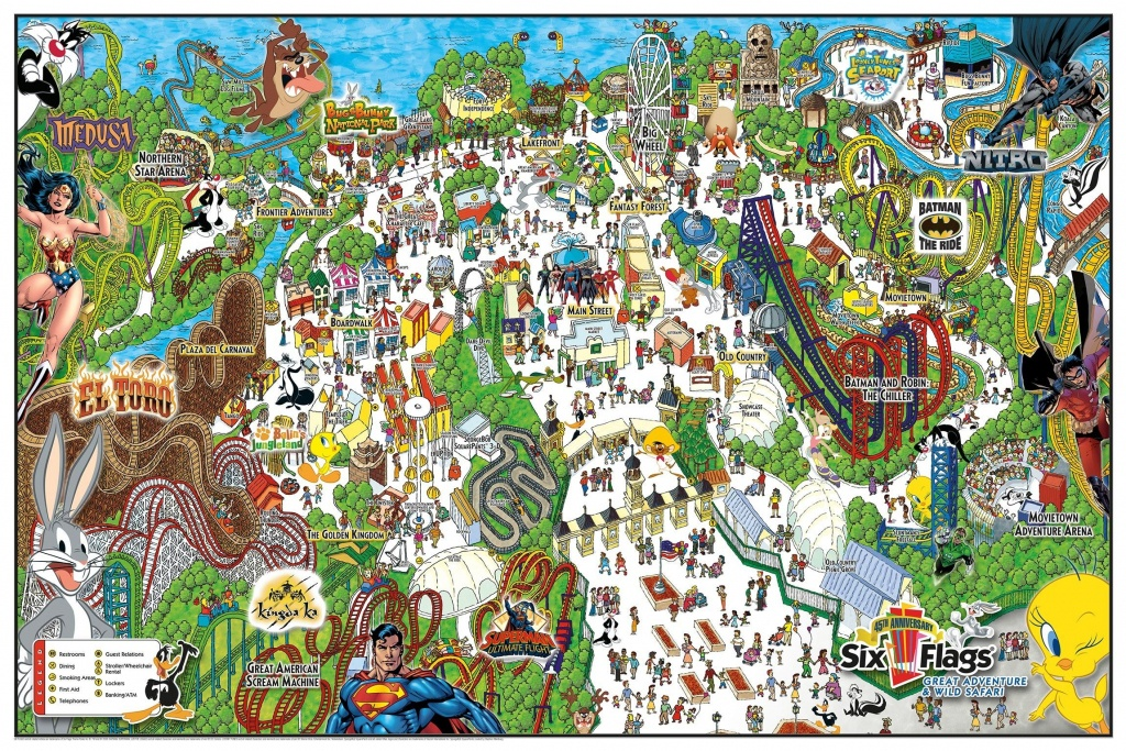 Six Flags Great Adventure & Wild Safari Map. | Vacations & Traveling - Six Flags Great America Printable Park Map