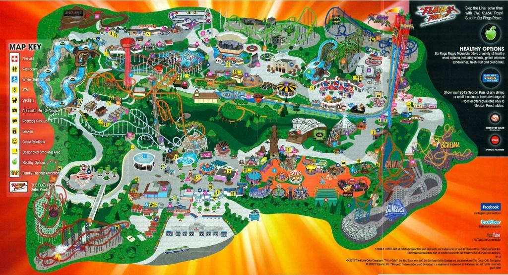 Six Flags Magic Mountain   Six Flags Magic Mountain Dc Universe - Six Flags Map California 2018