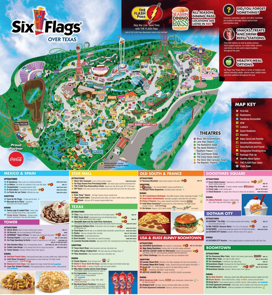 Six Flags Over Texas Map New Fiesta History Of 16 | Sitedesignco - Six Flags Over Texas Map App