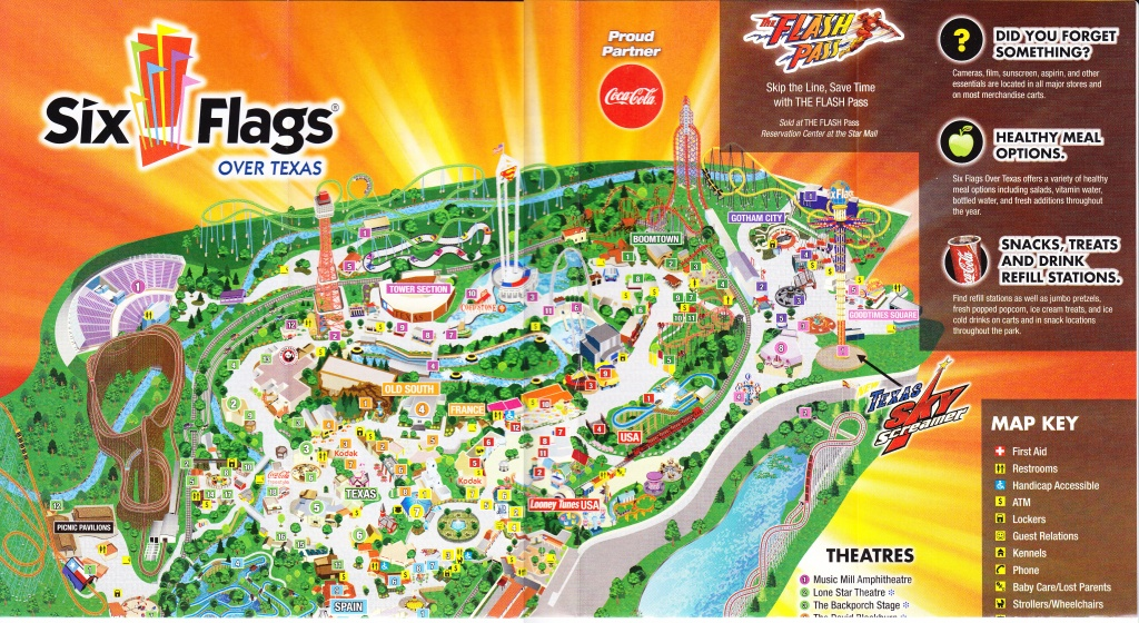 Six Flags Over Texas Map | Sitedesignco - Printable Six Flags Over Georgia Map