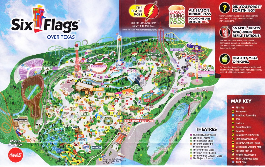 Six Flags Over Texas Map | Sitedesignco - Six Flags Over Texas Map App