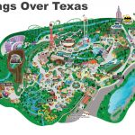Six Flags Over Texas Map   Six Flags Over Texas Map