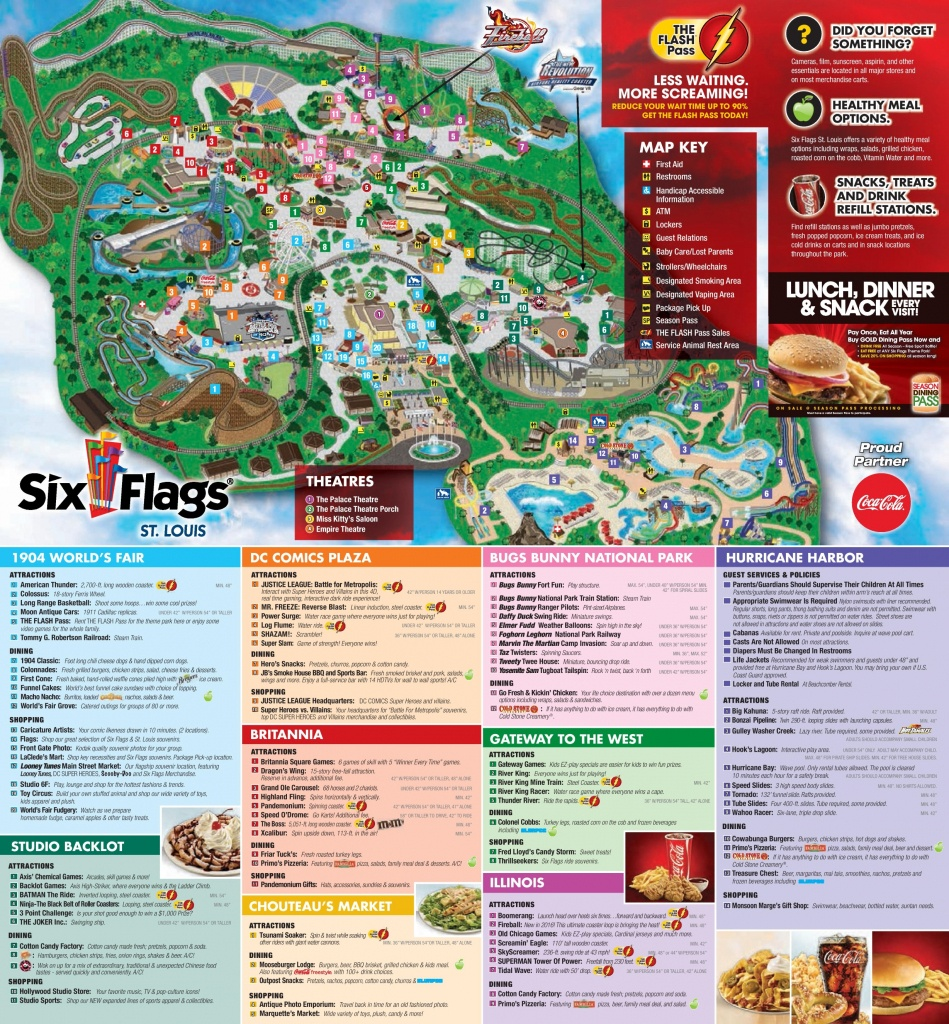Six Flags St. Louis Park Map - Printable Six Flags Over Georgia Map