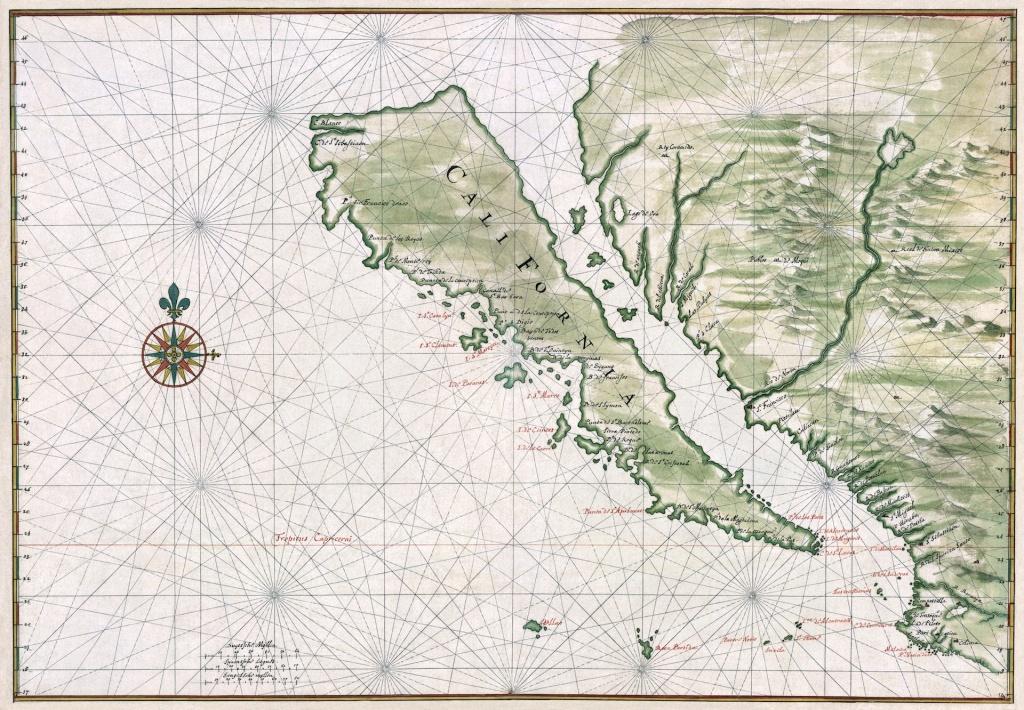 Six Strange Maps Of California | Kcet - Early California Maps