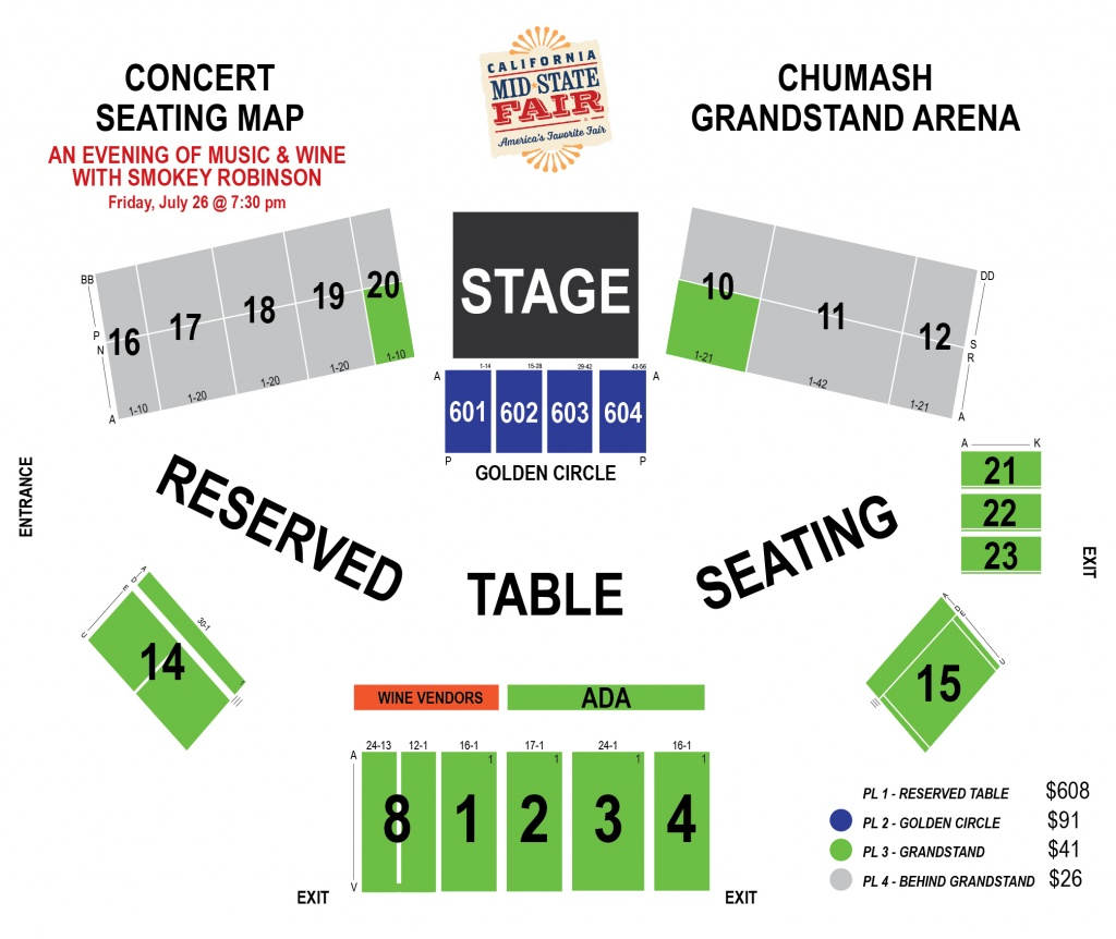 Smokey Robinson - (An Evening Of Music & Wine) | Ticketswest - Map Of California Mid State Fair