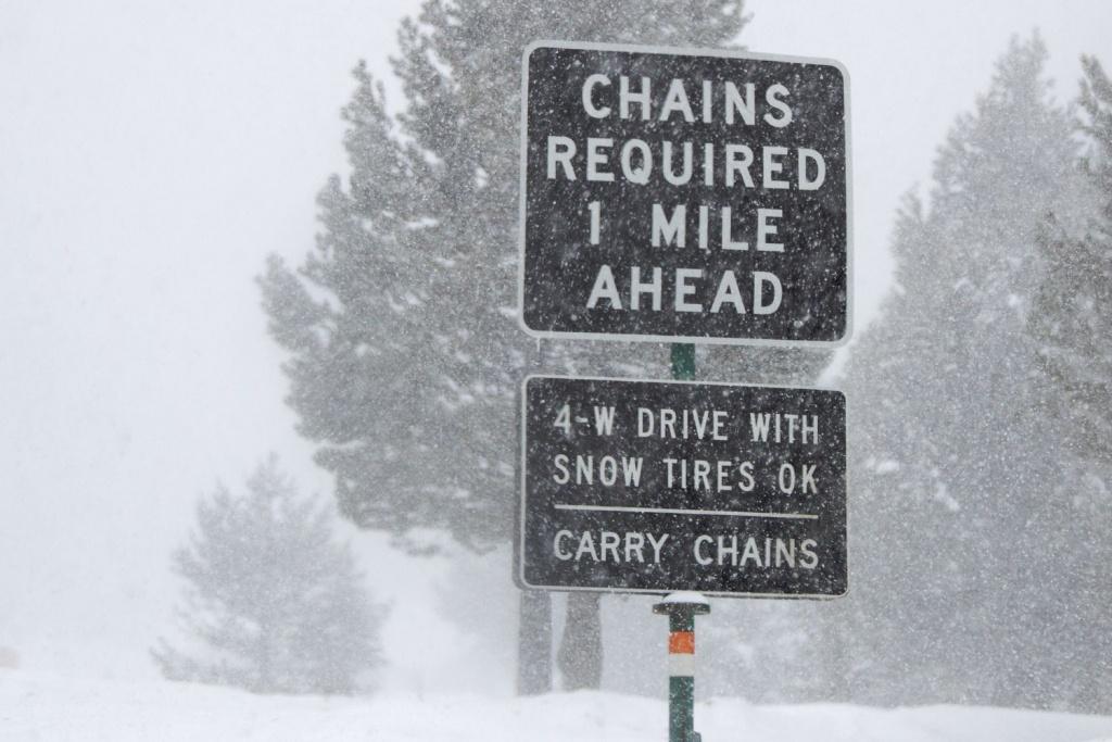 Snow Chains In California - California Chain Control Map