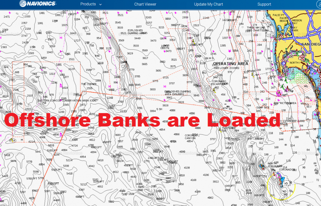 Socal Offshore Fishing Ready To Explode | Bdoutdoors - Southern California Fishing Map