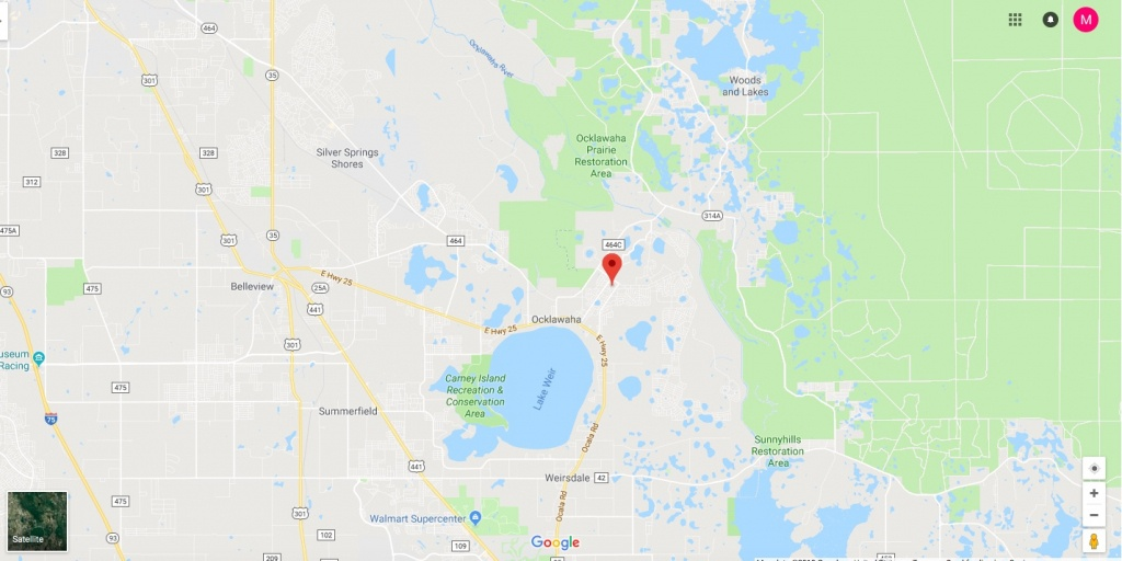 Sold! Huge .62 Acre Lot On Magnolia Pass Trace In Ocklawaha Florida - Ocklawaha Florida Map