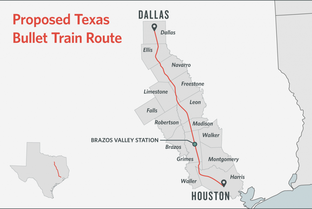 Some Texans Dodge Bullet Train, Others Are Square In Its Path   The - Texas High Speed Rail Map