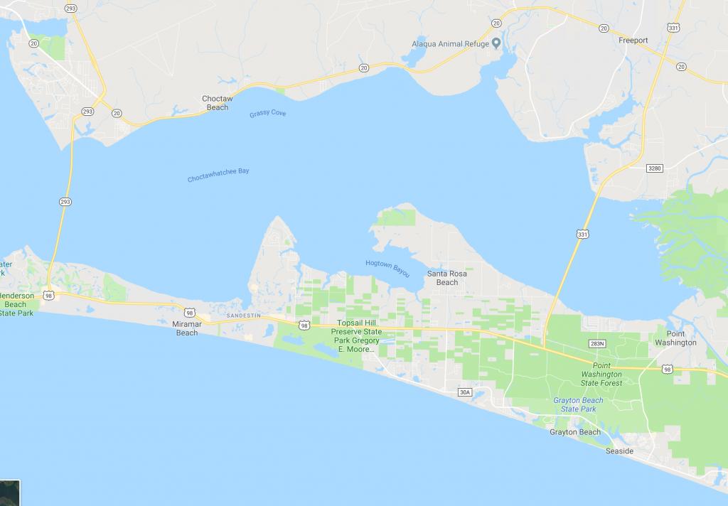 Somers & Company | Scenic 30A And Destin, Fl Real Estate - Destin Florida Location On Map