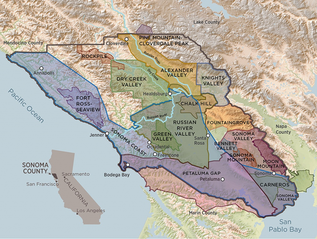 Sonoma County Terroir | A Guide To Sonoma County's 17 Avas - California Wine Appellation Map