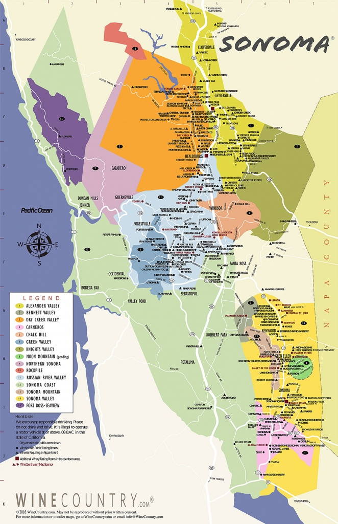Sonoma County Wine Country Maps - Sonoma - California Wine Tours Map