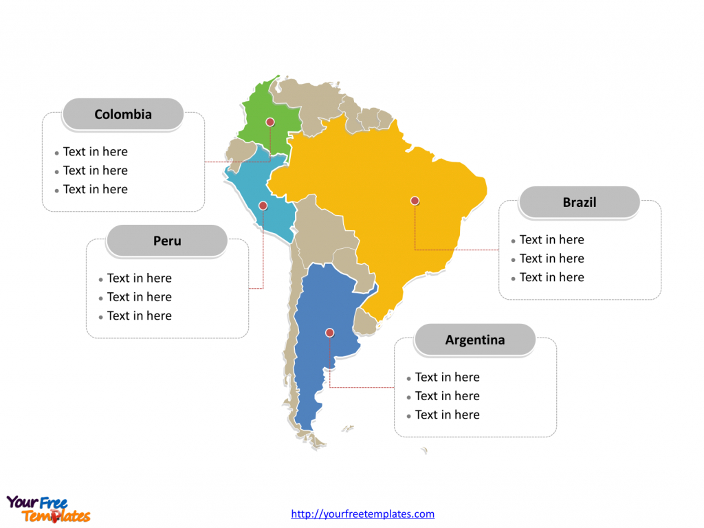 graphic regarding Printable South America Map called Free of charge Printable Map Of South The us Printable Maps