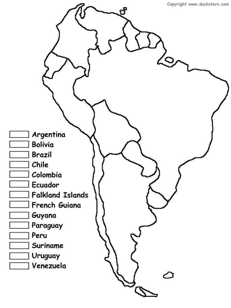South America Unit W/ Free Printables   Homeschooling   Spanish - Free Printable Map Of South America