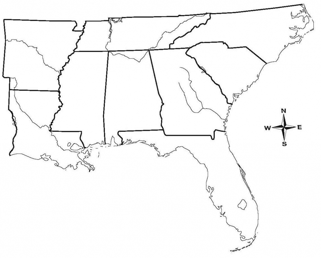 South And Central America - Maplewebandpc - Southeast States Map Printable