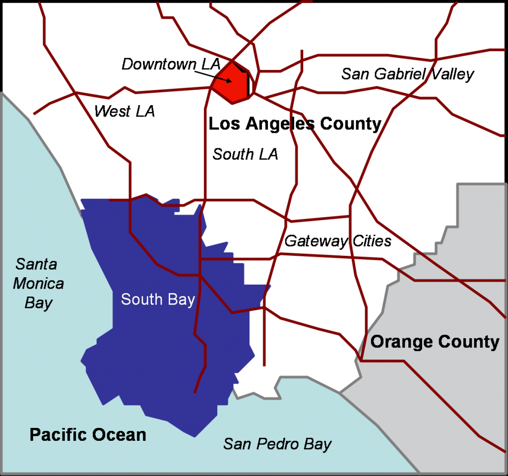 South Bay (Los Angeles County) - Wikipedia - San Pedro California Map