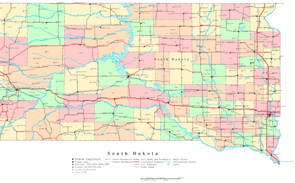 South Dakota Printable Map - South Dakota County Map Printable