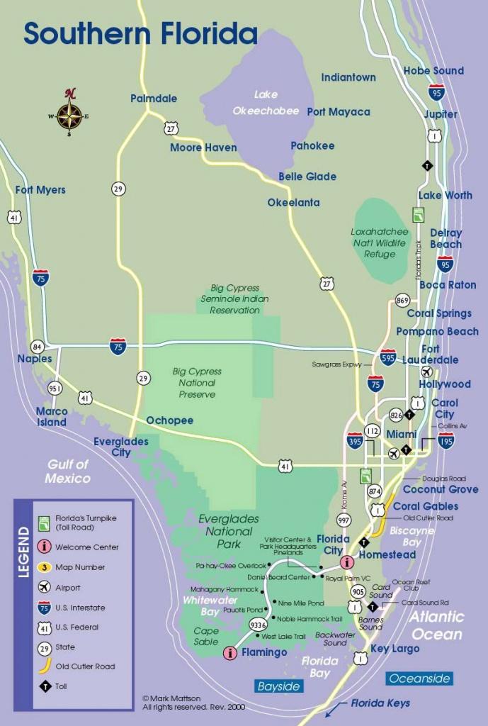 South Florida Map   Travel Maps   Florida Keys Map, South Florida - Florida Hot Springs Map