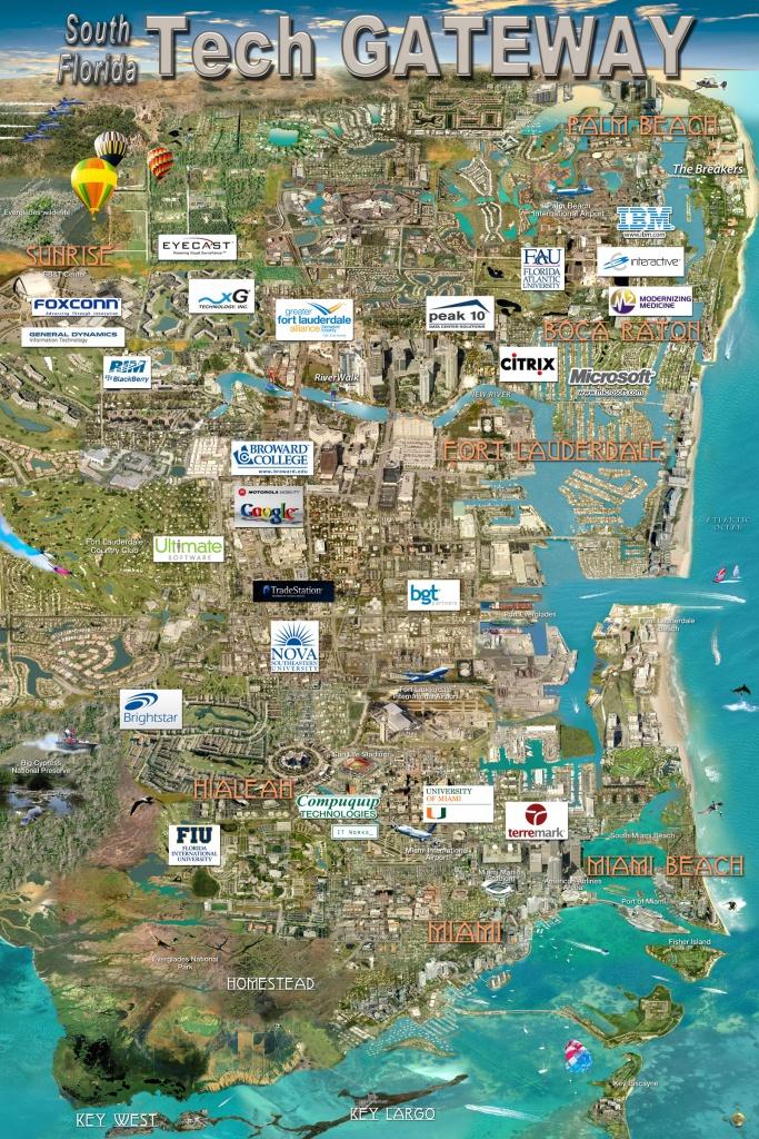 South Florida Tech Gateway Map   Silicon Maps - Florida Tech Map