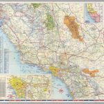 South Half) Road Map Of California   David Rumsey Historical Map   Driving Map Of California With Distances