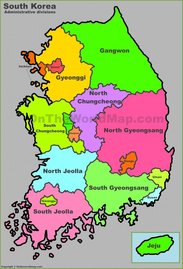 South Korea Maps   Maps Of South Korea (Republic Of Korea) - Printable Map Of Korea